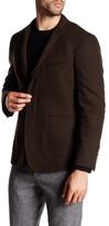 Vince Notch Collar Long Sleeve Wool Blend Blazer