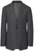 Banana Republic Standard Charcoal Italian Flannel Suit Jacket