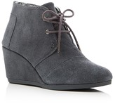 Toms Lace Up Desert Wedge Booties