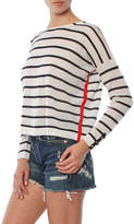 Autumn Cashmere Striped Boatneck With Contrast Seams
