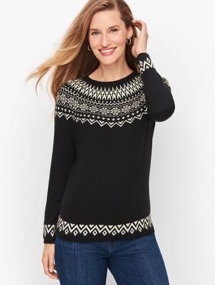 Talbots Winter Fair Isle Yoke Sweater