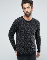 ONLY & SONS Knitted Camo Crew Neck
