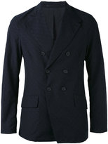 Giorgio Armani embroidery blazer - men - Virgin Wool/Polyester/Cupro/Cotton - 48