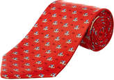 Salvatore Ferragamo Red Airplane Silk Tie