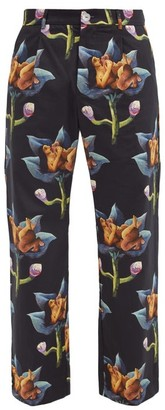 Endless Joy - Dendrophilia Printed Wide-leg Trousers - Black