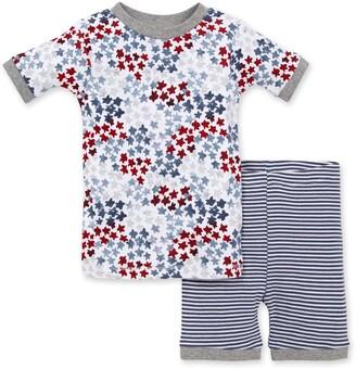 Burt's Bees Starry Night Sky 4th of July Baby Organic Cotton Snug Fit Pajamas Shorts Set