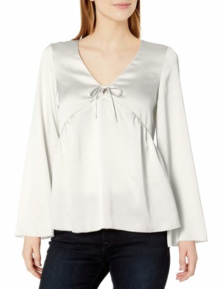 Kensie Women's Shiny Polyester Top