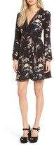 Astr Women's Floral Print Wrap Dress