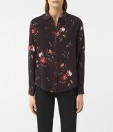 AllSaints Gira Amarillo Silk Shirt