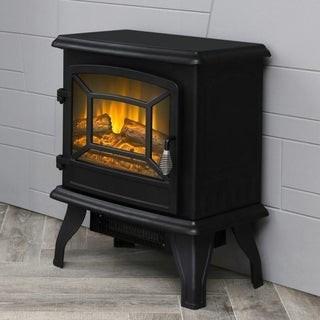 Overstock LOKATSE HOME Indoor Electric Freestanding Heater Fireplace
