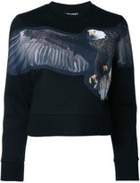 Neil Barrett eagle print sweatshirt - women - Viscose - S