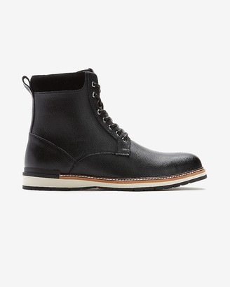 Express Pebble Leather Sneaker Boot