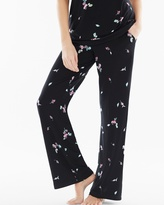 Soma Intimates Pajama Pants Botanical Bouquet Black TL