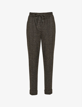 Reiss Maddie wool-blend jogger trousers