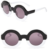 Wildfox Couture Twiggy Two-Tone Round Sunglasses, 44mm