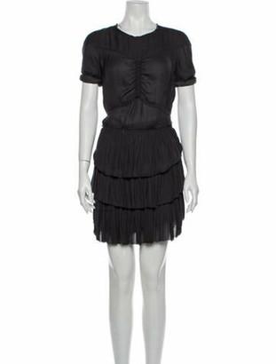 Isabel Marant Crew Neck Mini Dress Grey