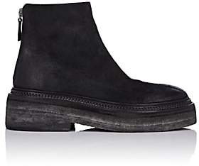 Marsèll Women's Crepe-Sole Distressed Suede Ankle Boots - Black