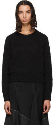 3.1 Phillip Lim Black Boucle High Low Sweater
