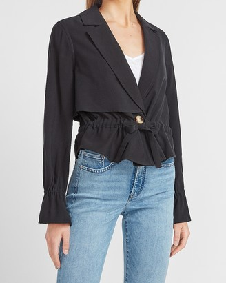 Express Cropped Utility Trench Jacket