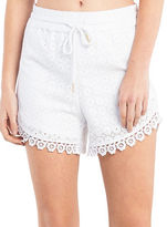 Kensie Cotton Lace Shorts
