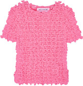 Comme des Garcons Ruffled crochet-knit sweater