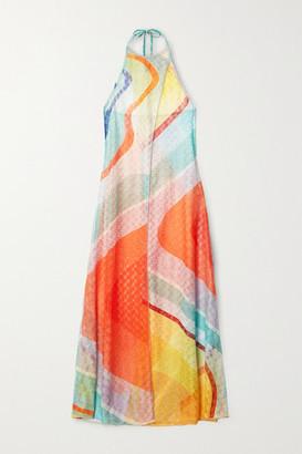 Missoni Crochet-knit Halterneck Maxi Dress - Orange