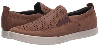 Ecco Cathum Summer Slip-On (Cocoa Brown) Men's Shoes