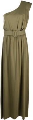 FEDERICA TOSI Belted One-Shoulder Long Dress
