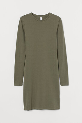 H&M Long-sleeved Bodycon Dress