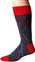 Bugatchi Men's Six String Fancy Sock