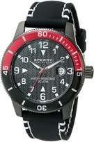 Sperry Men's 10014891 Diver Stainless Steel Watch With Black Silicone Band