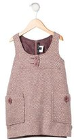 Lili Gaufrette Girls' Metallic Herringbone Dress