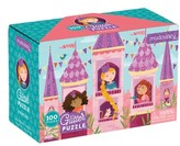 Chronicle Books Girl's Princess 100-Piece Glitter Puzzle
