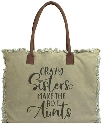 Vintage Addiction Crazy Sisters Make The Best Aunts Canvas Tote Bag