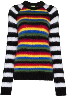 AGR Stripe Pattern Knitted Jumper