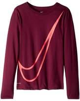 Nike Dry Long Sleeve Training T-Shirt Girl's T Shirt