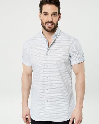 Le Château Geo Print Cotton Tailored Fit Shirt