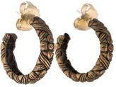 Stephen Dweck Floral Hoop Earrings
