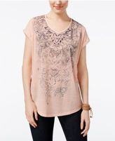 Style&Co. Style & Co Graphic Print T-Shirt, Created for Macy's