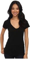 Michael Stars Slub S/S V-Neck Women's Short Sleeve Pullover