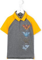 Armani Junior logo print polo shirt - kids - Cotton - 4 yrs