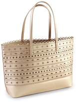 Mud Pie Perforated Gold Tote Bag
