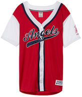 PINK Los Angeles Angels Mesh Button Down Jersey
