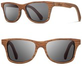 Shwood Men's 'Canby' 54Mm Wood Sunglasses - Zebrawood/ Grey