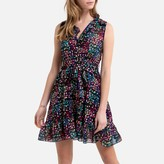 Molly Bracken Sleeveless Printed Mini Dress with Tie-Waist