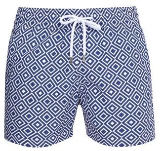 Frescobol Carioca Sports Angra-print Swim Shorts - Mens - Blue