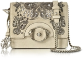 Roberto Cavalli Skin Suede Crossbody Bag w/Embroidered Beads