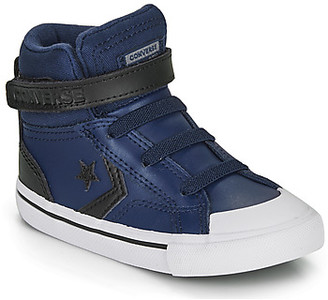 Converse PRO BLAZE STRAP MARTIAN LEATHER HI girls's Shoes (High-top Trainers) in Blue