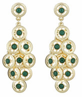 Gold Coin Cascade Earrings