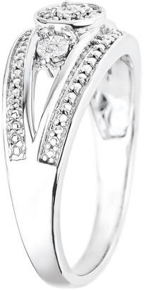 Love Diamond 9ct White Gold Diamond Fancy Ring